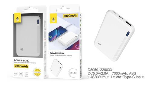 Imagen 1 de 1 de Power Bank Batería Externa 7000 Mah