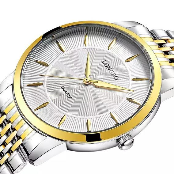 Relógio Masculino Longbo Clássico Luxo Original