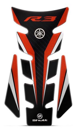 Protetor De Tanque Shutt Tank Pad Yamaha R3 Vermelho Preto
