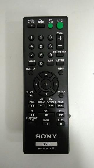 Controle Remoto Rmt-d197a Sony Dvd Dvp-sr210 Dvd-sr2 Origina