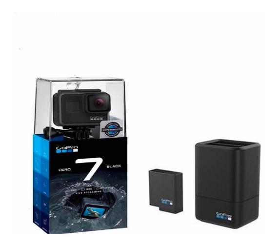 Câmera Gopro Hero 7 Black + Carregador Duplo +bateria Extra
