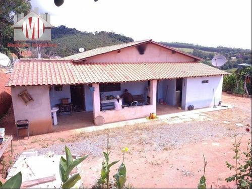 Excelente Chácara Com 3 Dormitórios, Rico Em Água, Nascente, Pomar, Ótima Localização, À Venda, 6000 M² Por R$ 350.000 - Rural - Pedra Bela/sp - Ch0884