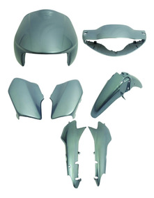 Carenagem Biz 100 Prata Metálico Ano 2002/3/4 Kit Completo