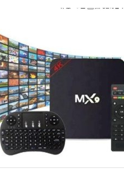 Mx9 Tvbox Android 8.1 Selo Anatel + Teclado Bluetooth