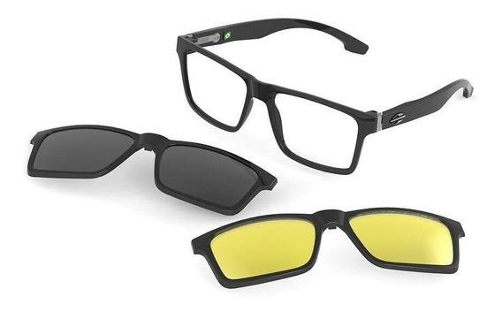 Armação Oculos Mormaii Swap M6057a0256 E Clipon Polarizado