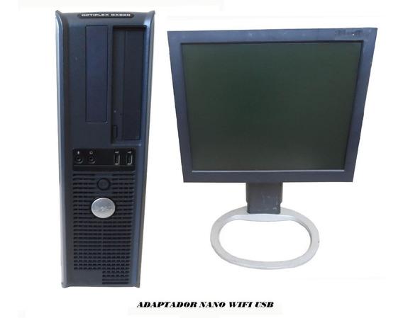Computador Dell Optiplex Dualcore 4gb 120gb Ssd / Mon 15