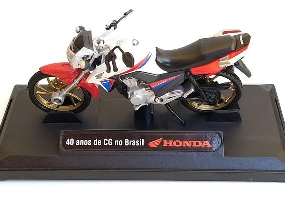 Miniatura Moto Titan 160 Detalhe Escala 1/24