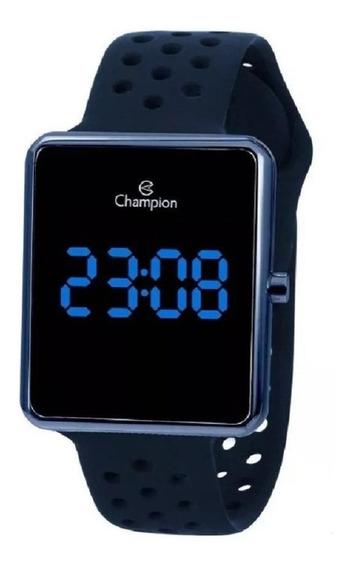 Relógio Champion Unissex Digital Pulseira Azul Ch40081a + Nf