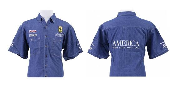 Camisa Ferrari Perry Ellis America Race Lemans No En Tiendas