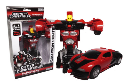 Ditoys Convertibles Collision Fighters Rojo