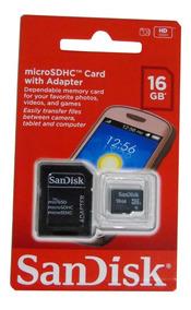 10 Cartão De Memória Sandisk Micro Sdhc 16gb Classe 4