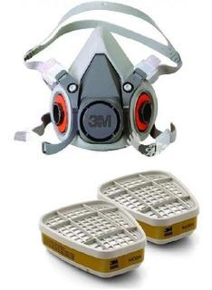 Respirador Semifacial 3m 6200 + Cartucho 3m 6006