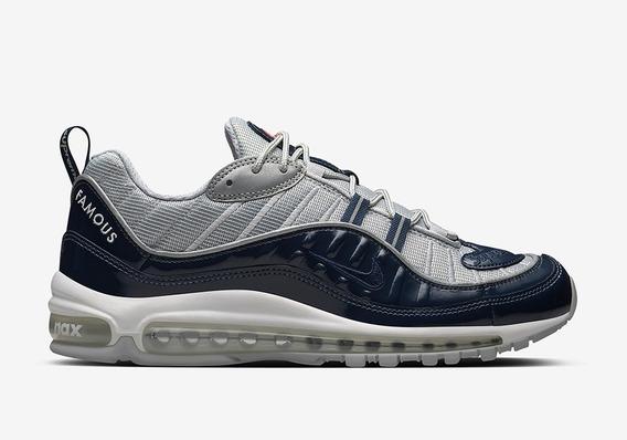 Tenis Supreme X Nike Air Max 98 - Obsidian