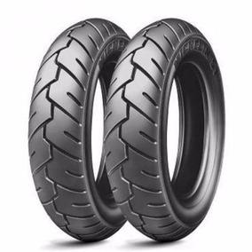 Par Pneu Michelin S1 90/90-10 + 100/90-10 Burgman 125 An