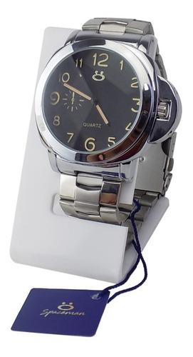 Relógio Masculino Original Prateado 100% Funcional + Caixa