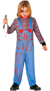 Disfraz Chuki. Enterito Halloween. Cotillon Chirimbolos