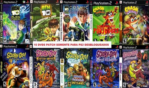 10 Jogos (10 Dvds) Ps2 Ben 10 Crash Scooby Doo