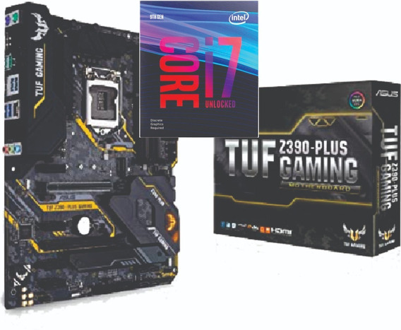 Kit Processador Intel Core I7 9700k Asus Tuf Z390 Com Nf