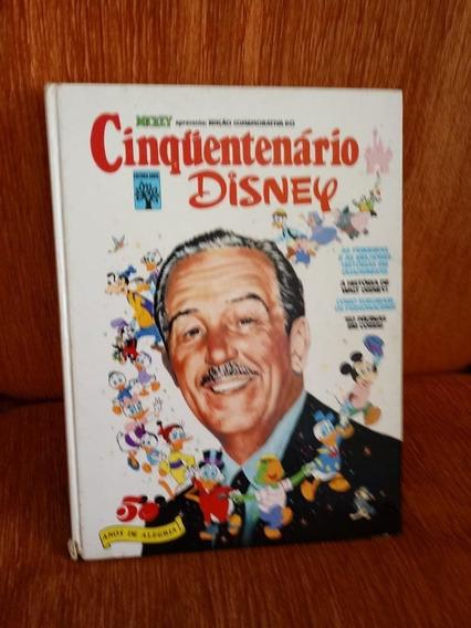 Livro Cinquentenário Disney - Myckey- Editora Abril