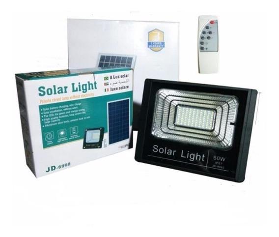 Kit 4 Refletor 100w Solar Iluminação Patio Parque Exposição