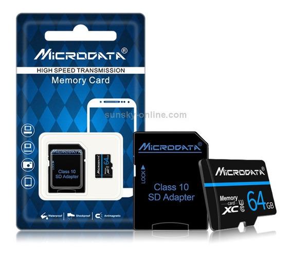 Cartão Micro Sd Microdata 64 Gb, Classe 10, Original,lacrada