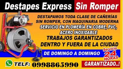 Destapes De Cañerias Plomero En Fugas De Cobre 0998865990