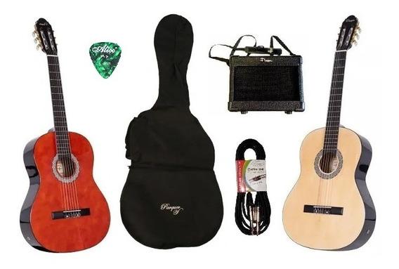 Guitarra Criolla Electroacustica Parquer Amplificador 5w