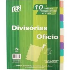 Jogo C/10 Div Plast Transp Cl Of 310x231mm 10intb 6113 Yes