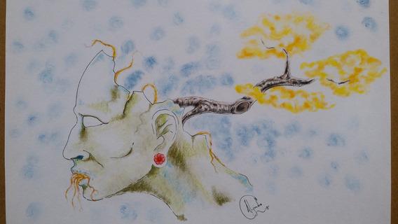 Dibujo Rostro Y Árbol