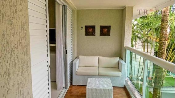Flat Com 3 Dormitórios À Venda, 100 M² Por R$ 700.000,00 - Praia Da Riviera De São Lourenço - Bertioga/sp - Fl0003