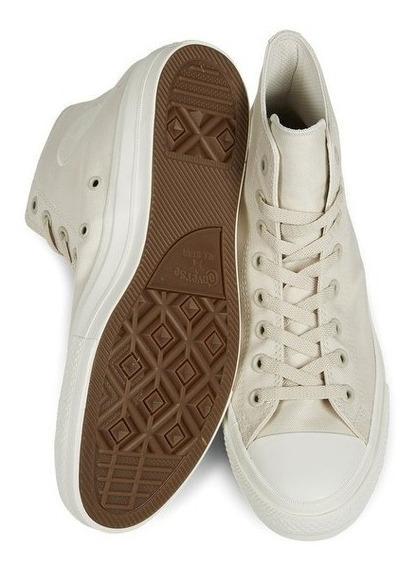 Converse Premium Hi-top Plimsolls In White 151222c