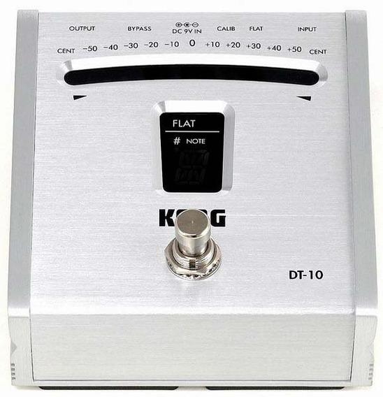 Afinador Korg Pedal Dt-10 Metalico Silver Guitar Bajo Cuotas