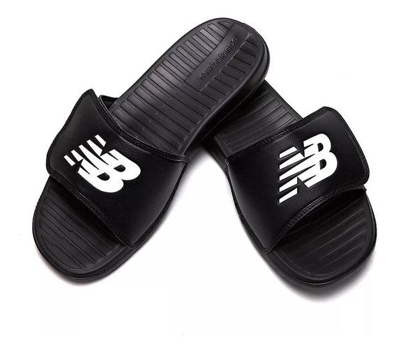 Ojota Chinela New Balance Sd230 Hombre C/ Velcro - Negro