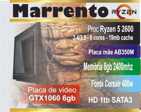 Computador Amd Ryzen 5 2400 8gb Gtx1060 Marrento