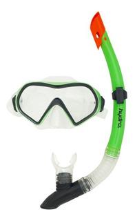 Set Mascara Snorkel Con Valvula Buceo Adulto Antifog Hydro