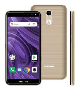 Smartphone Positivo Twist 2 S512 Tela5 16gb Dourado Novo Nf