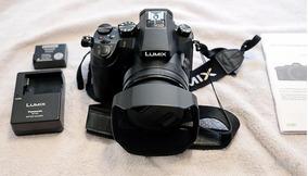 Câmera Panasonic Fz 2500 Seminova Repleta De Acessórios!