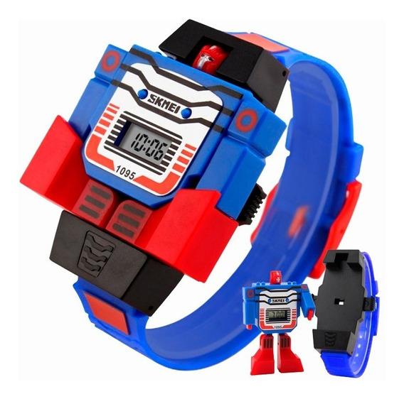 Reloj Infantil Niños Led Digital Robot Juguete Fiesta Regalo Sm.1095