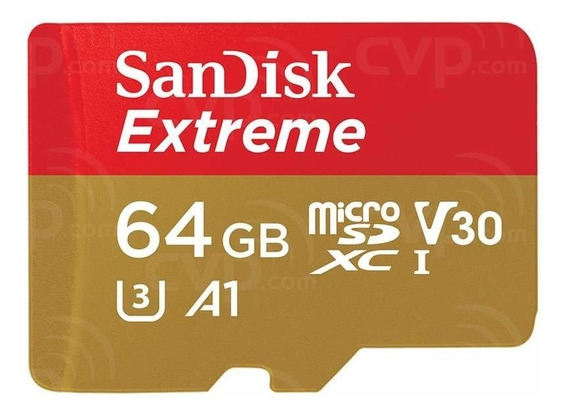 Cartão Micro Sd 64gb Sandisk Extreme 100mb/s Classe 10 Uhs-i