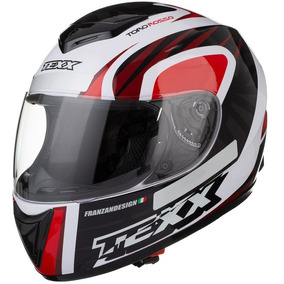 Capacete Moto Texx Toro Rosso Ls2 Norisk Shark Agv Branco