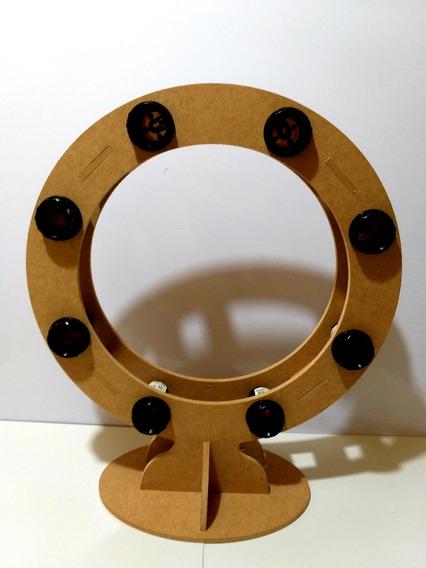 Ring Light 100% Mdf Cru -08 Lâmpadas