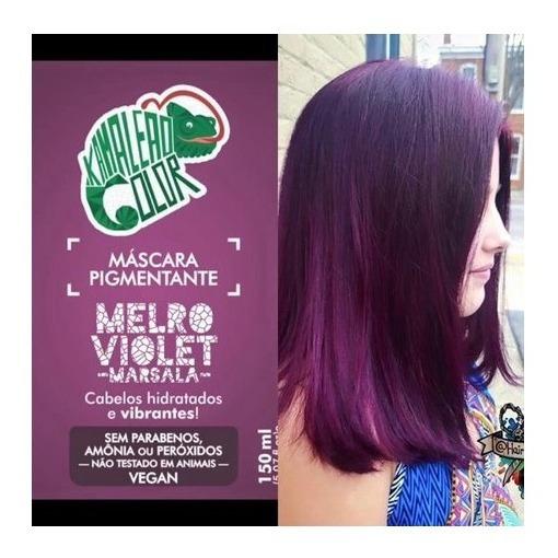 Kamaleão Color Máscara Pigmentante Melro Violet -marsala