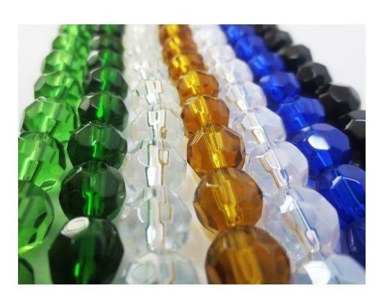1000 Cristal De Vidro Religioso 8mm + 9 Firmas Umbanda