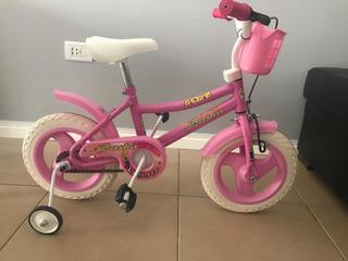 Bicicleta Rodado 12 Color Rosa Una Semana De Uso Impecable