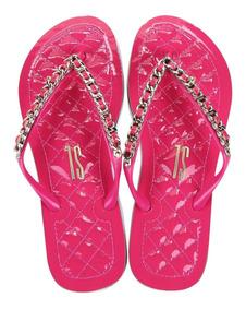 Rasteira De Borracha Santa Lolla Na Cor Hyper Pink - 0106
