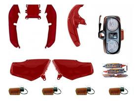 Kit Carenagem Titan125 Cg125 Todas 95 A 99 + Painel + Piscas