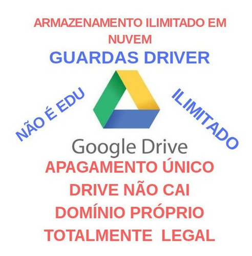 Imagem 1 de 1 de Google Drive Ilimitado E Vitalicio