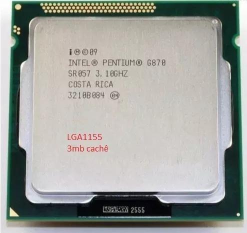 Processador Pentium G870 3.1ghz 3mb Lga1155 C/nota + Pasta