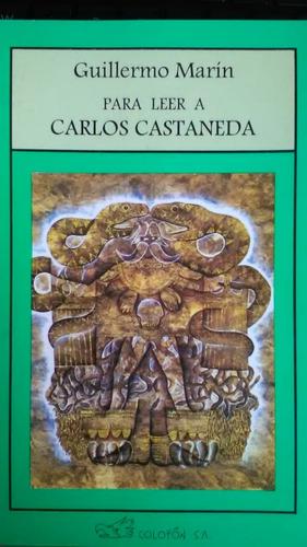 """Guillermo Marín Ruiz<br>Écrivain, journaliste, conférencier, auteur notamment de<br>""""Para leer a Carlos Castaneda"""", 1995)                     <br>Traduit par Cristal<br>"""