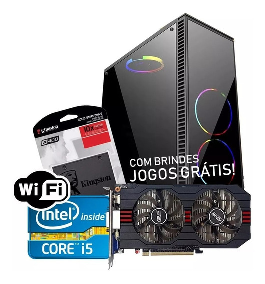Cpu Pc Gamer Barato Core I7 2600 8gb Ssd 120gb Gtx 750ti 2gb